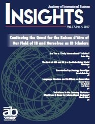 AIB InsightsVolume 17 Issue 4 (2017)